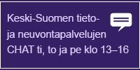 Keski-Suomen tieto- ja neuvontapalvelujen chat ti, to ja pe klo 13-16.